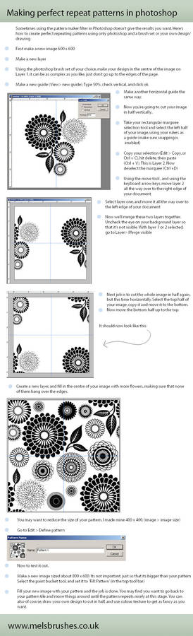 Repeat patterns in Photoshop
