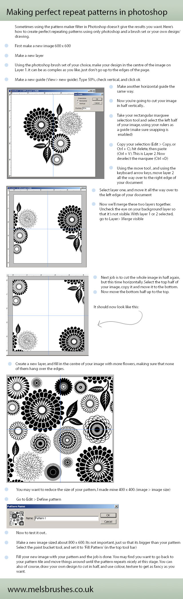 Repeat patterns in Photoshop by melemel