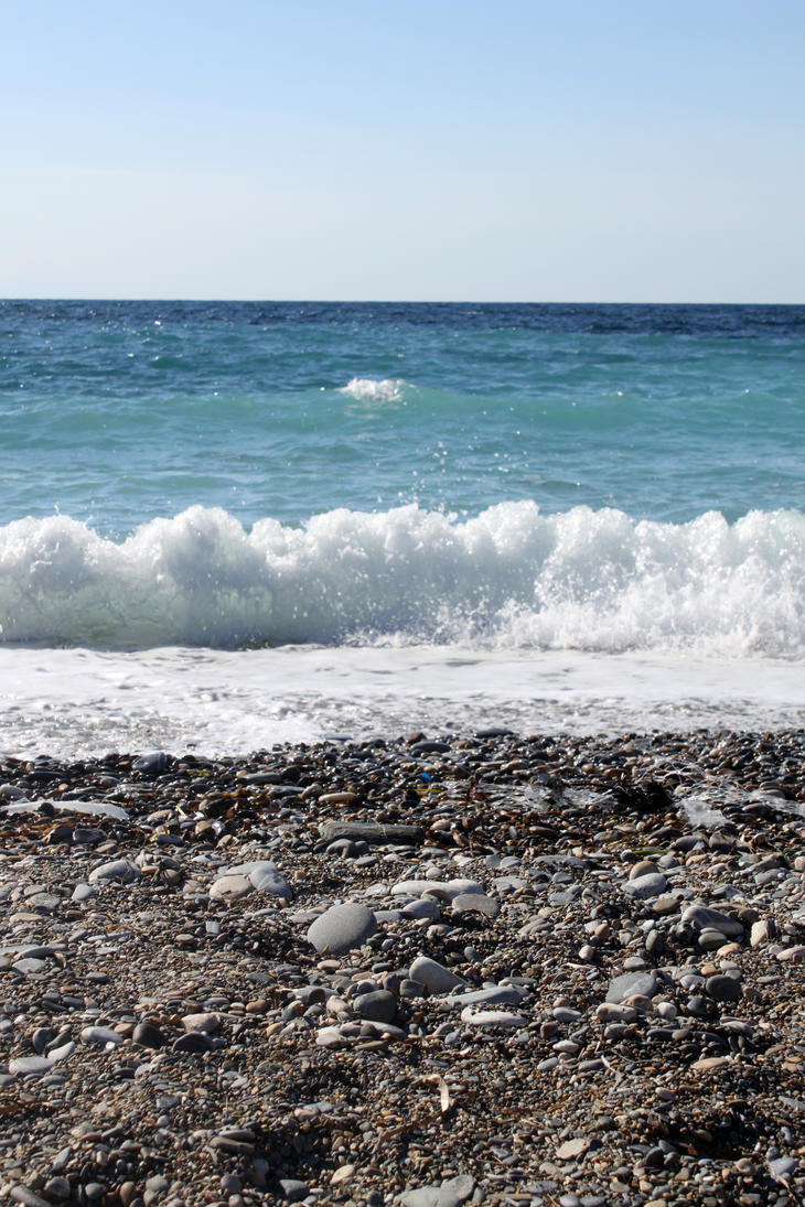 Beach Sea and Sky by melemel