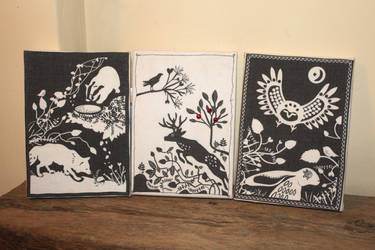 Woodland canvases by melemel
