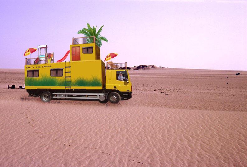 Big Camper in The Desert by melemel