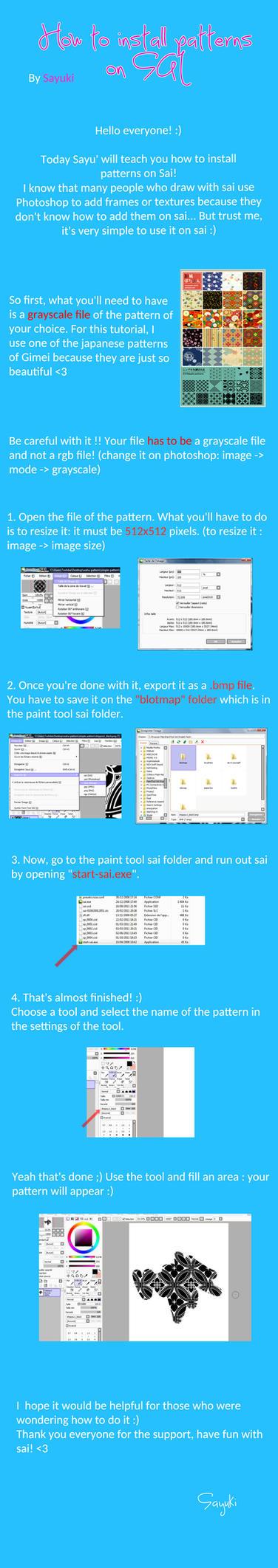 Install patterns on SAI by Sayuki-Art