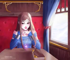 Lady in a Train by Sayuki-Art