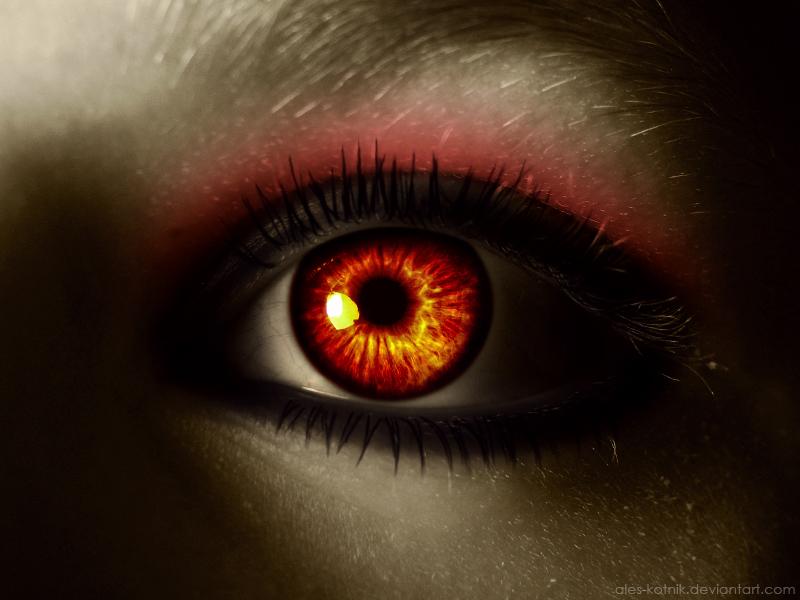 Глаза в огне Коллекция изображений