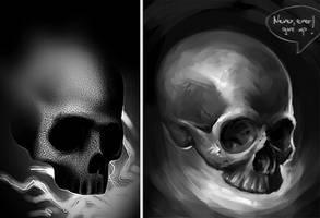 Skull paintover