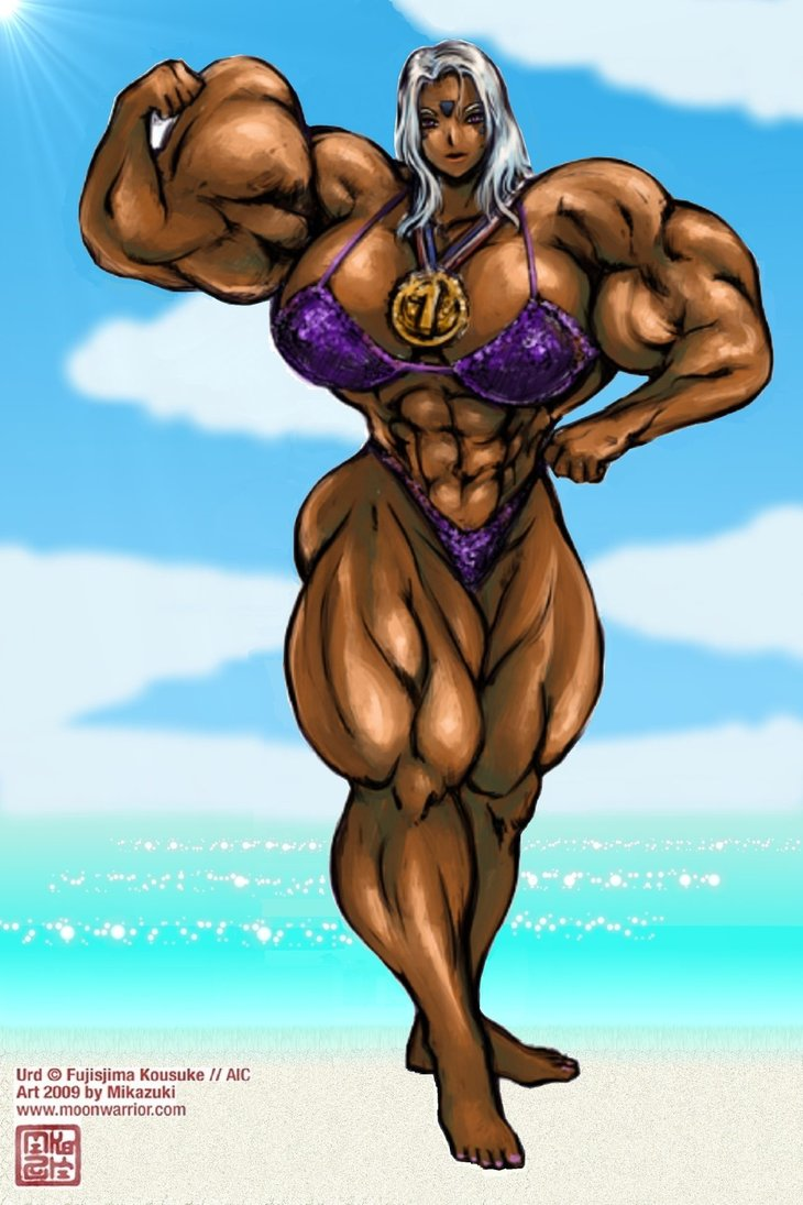 Urd posing at the beach by muscle82002