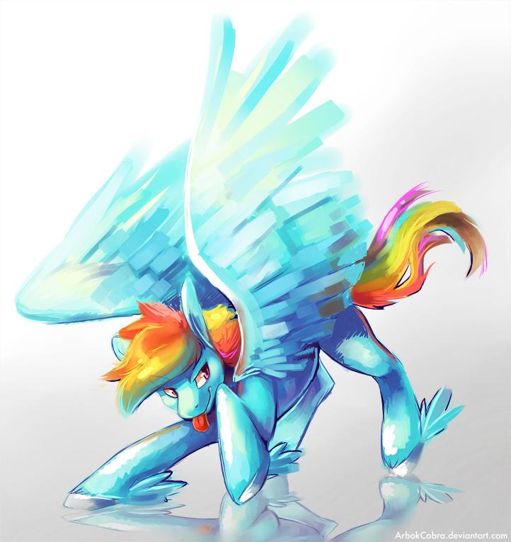 Rainbow Dash by CaramelBrulee