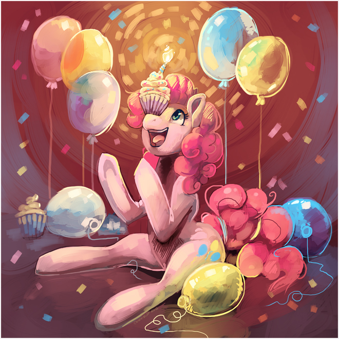Pinkie Pie Party by CaramelBrulee