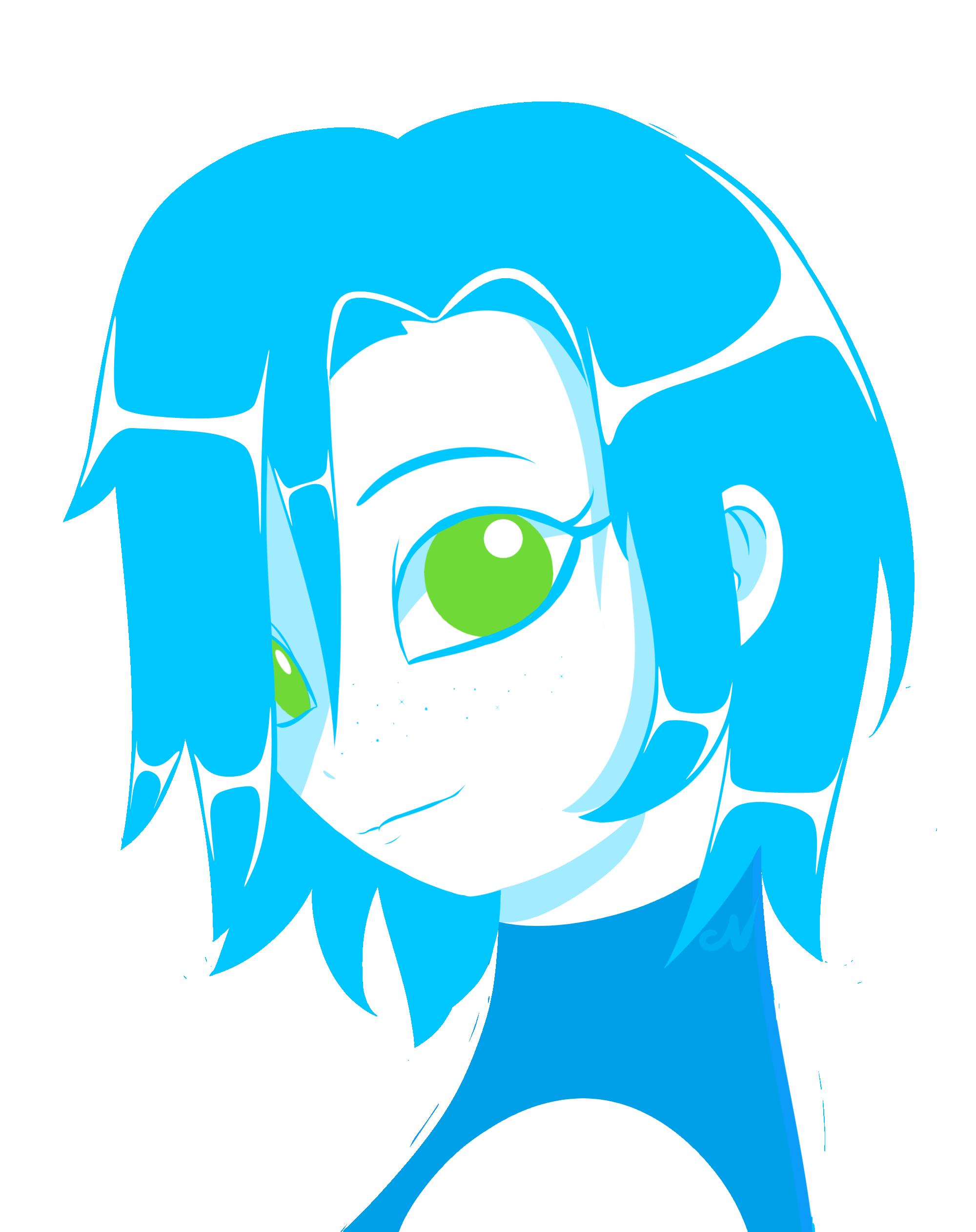 Blue girl by Narumi-Naru