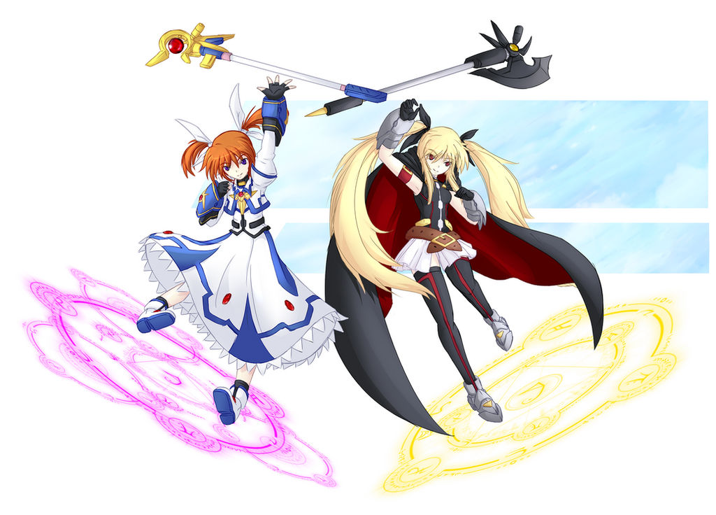 Nanoha and Fate SET UP by Drako9