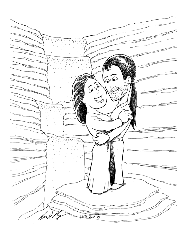 Caricature Commission: Jeff and Tammy Houser by woohooligan