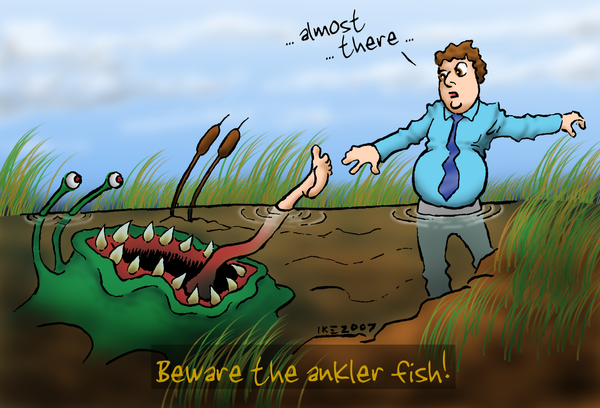 Beware the Ankler Fish by woohooligan