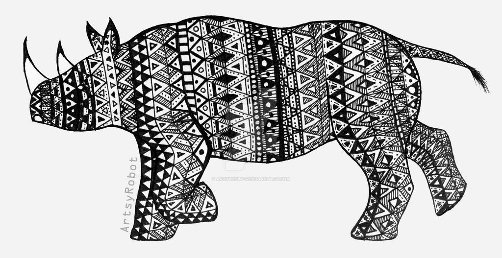 Black Rhino by ArtsyRobotz