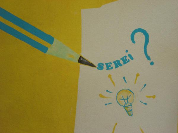 Pintura da parede da sala by PequenosArtistas