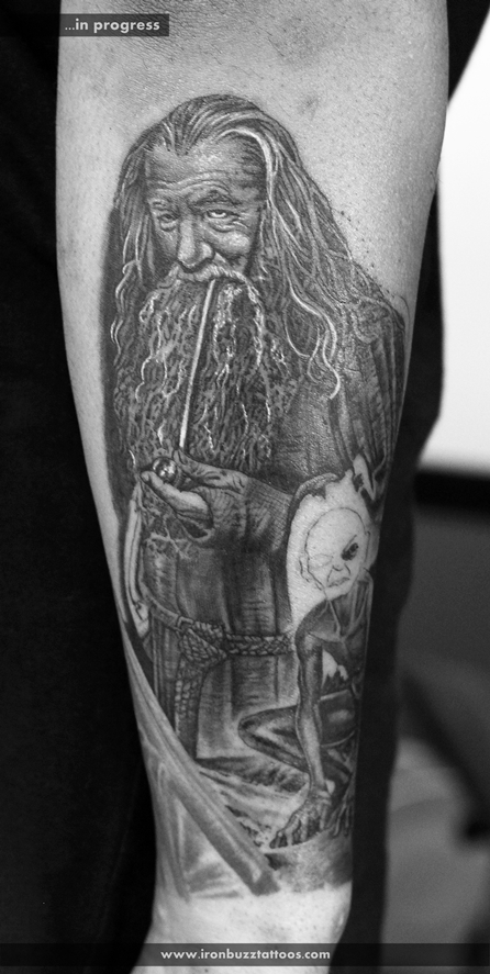 Watercolour Tattoo Lord Of The Rings