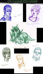 Guards Guards sketch dump by Icequeenkitty