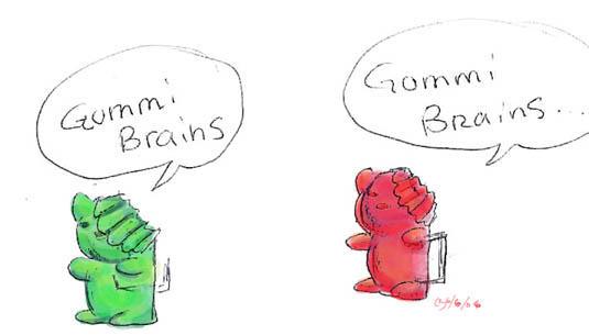 Gummi Braaaaaains by Icequeenkitty