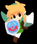 Link (TLoZ: Link's Awakening) by tiomatias by tuamigomatias