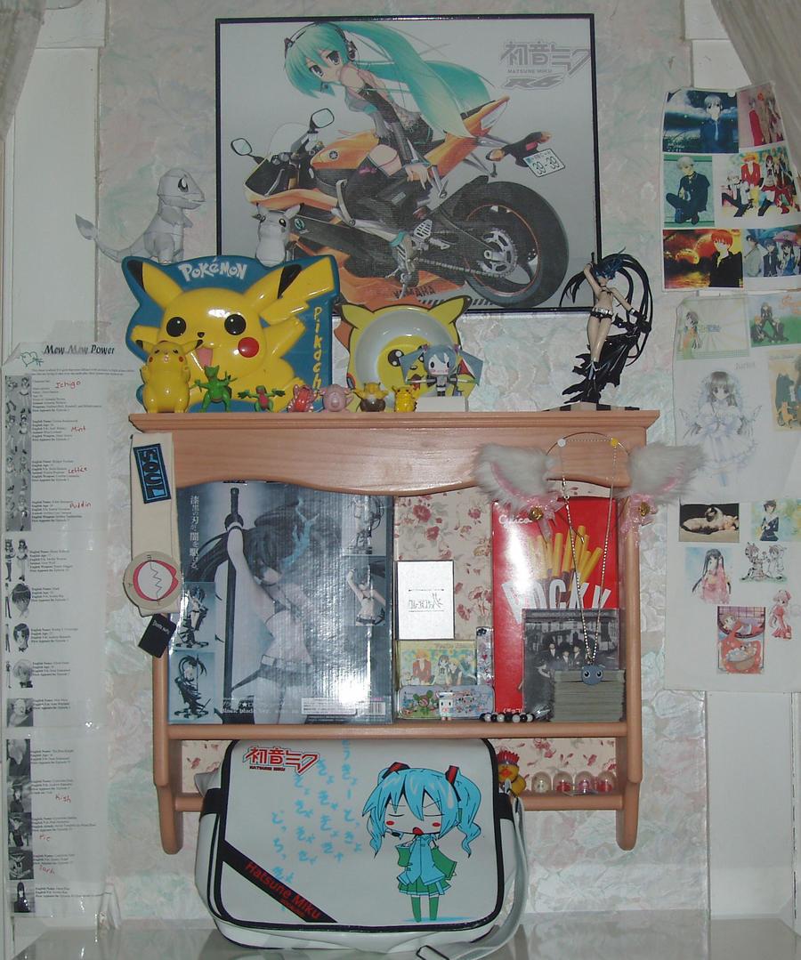 otaku bedroom 4 by pikachuchuk on on deviantart
