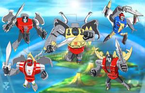 Transformers - Dinobots by JP-V