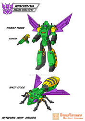 Waspinator - Deluxe Insecticon - G1 Cartoon Design