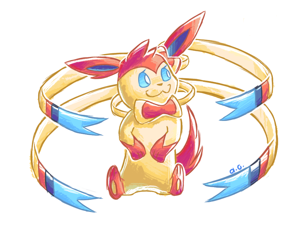 another sylveon by frostybiite