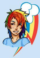 MLP:FiM Rainbow Dash by ninja-emo