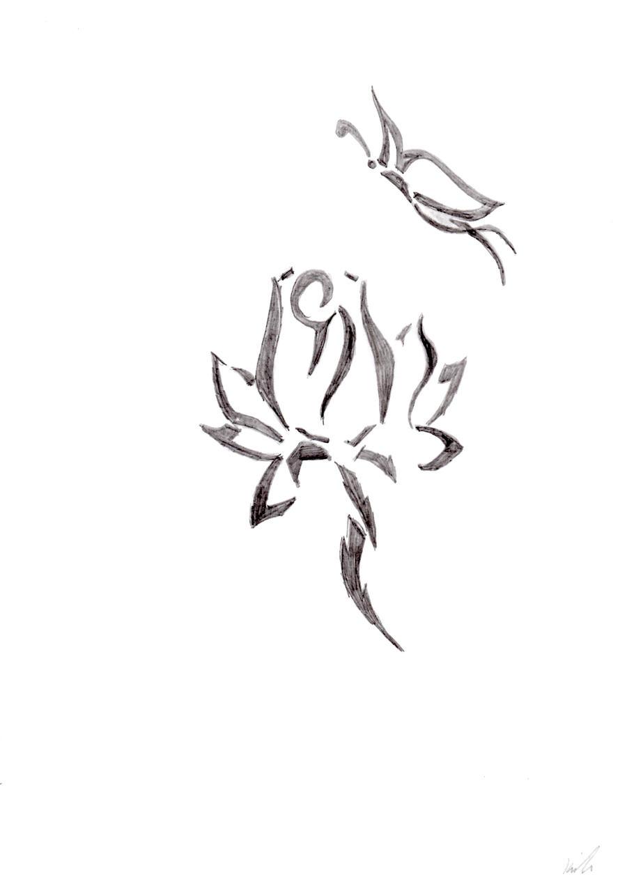 Tattoo random pinterest flower tattoos lotus flower tattoos and - Tribal Flower And Butterfly By Miiserylovescompany On