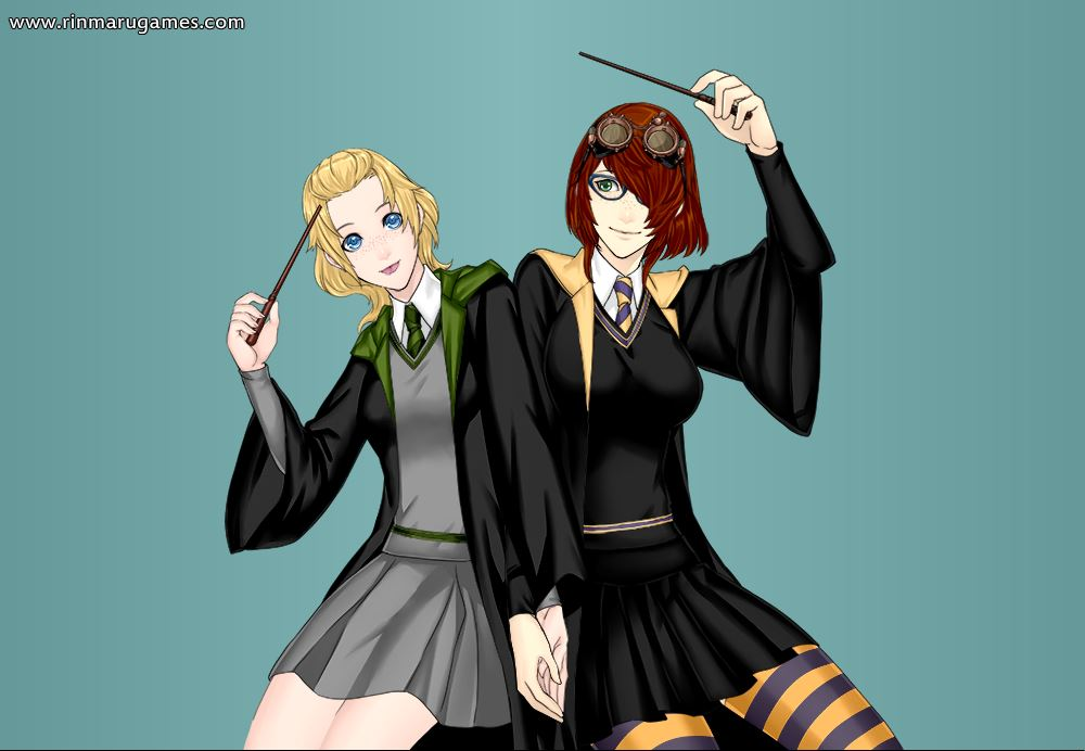 Ellie and I as Hogwarts Students by Rini2012
