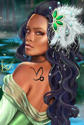 Queen Rihanna as Princess Tiana by Grove-of-Artemis