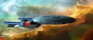 Enterprise D: Prettiness by scythemouse