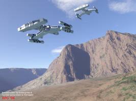 Terran Cruisers on the move by scythemouse