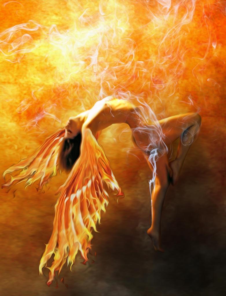 Angel Fire Wings by Burgeras