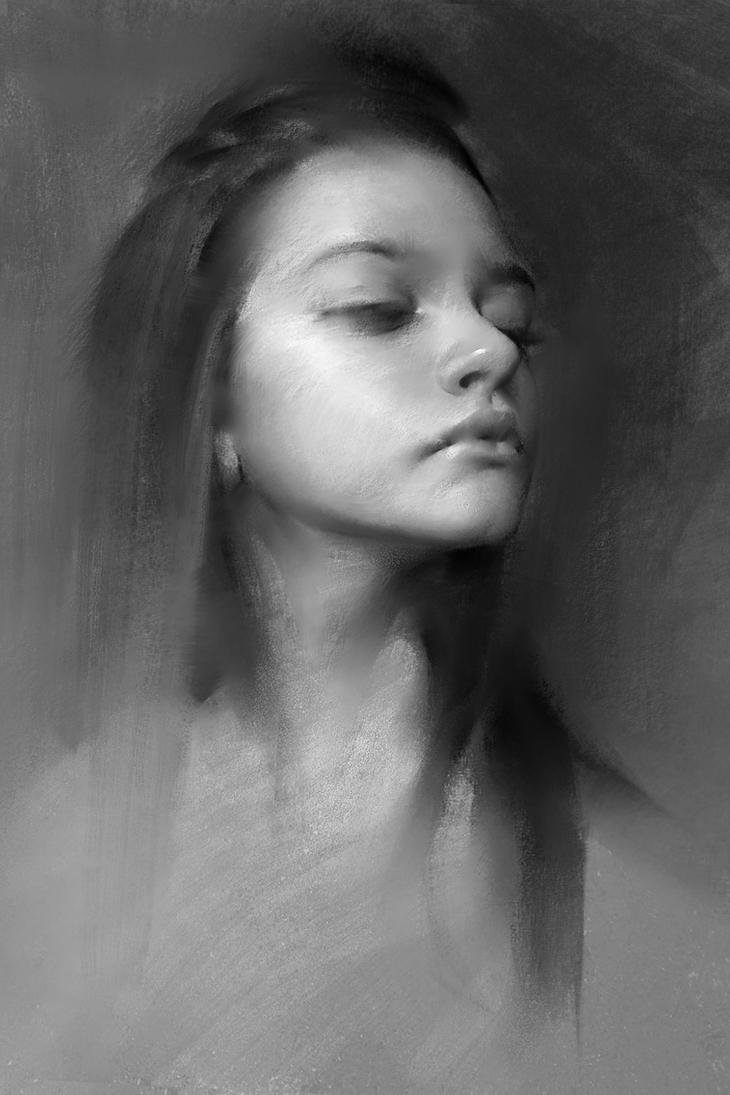 how to draw a 2 3 portrait