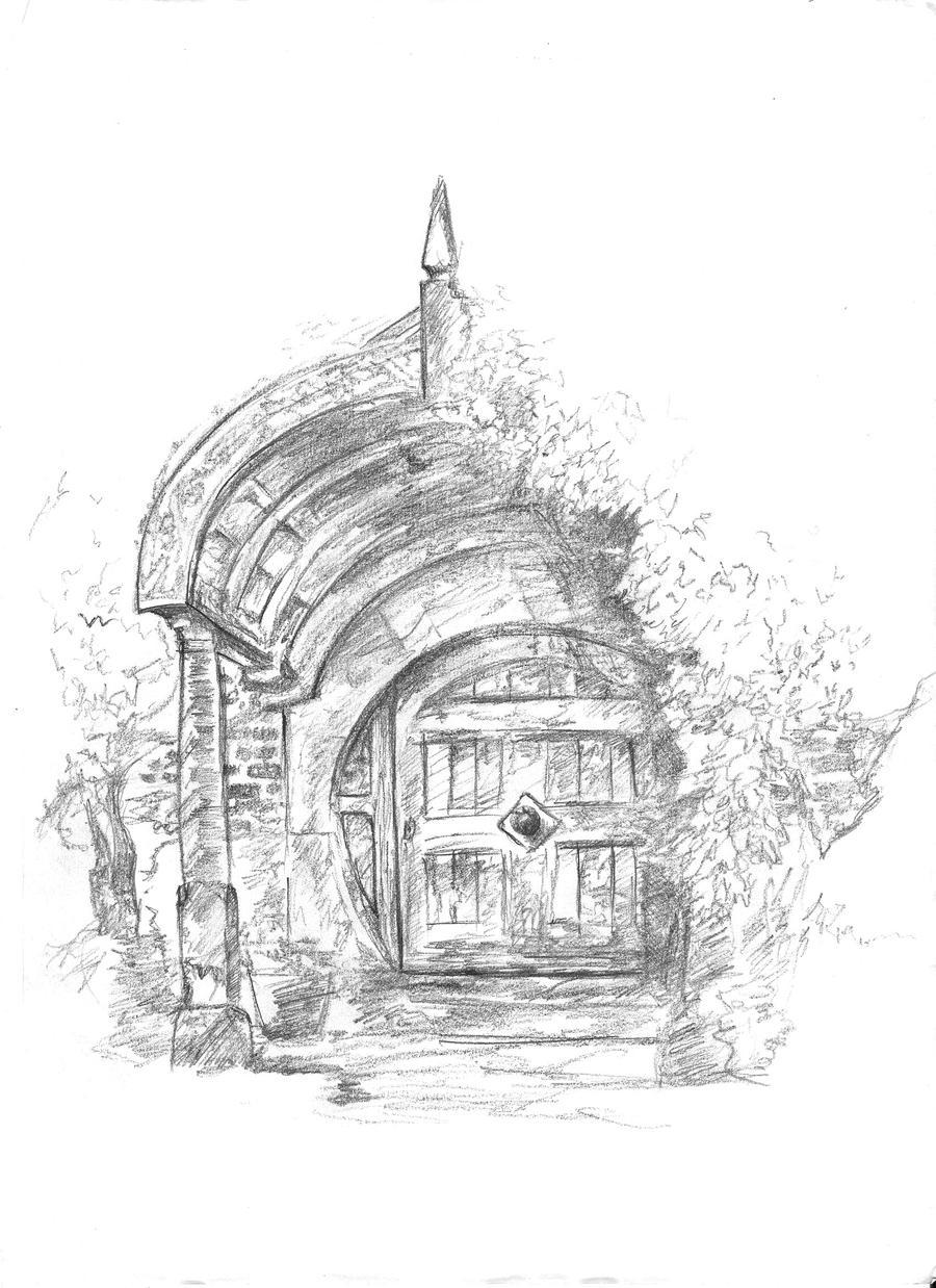 Hobbit house by dekinha on deviantart for Hobbit house drawings