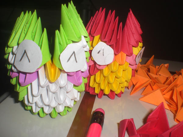 3d Origami Mini Owls By Xneeneex On Deviantart