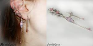 Pink ear cuff