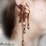 Mysterious bronze ear cuff