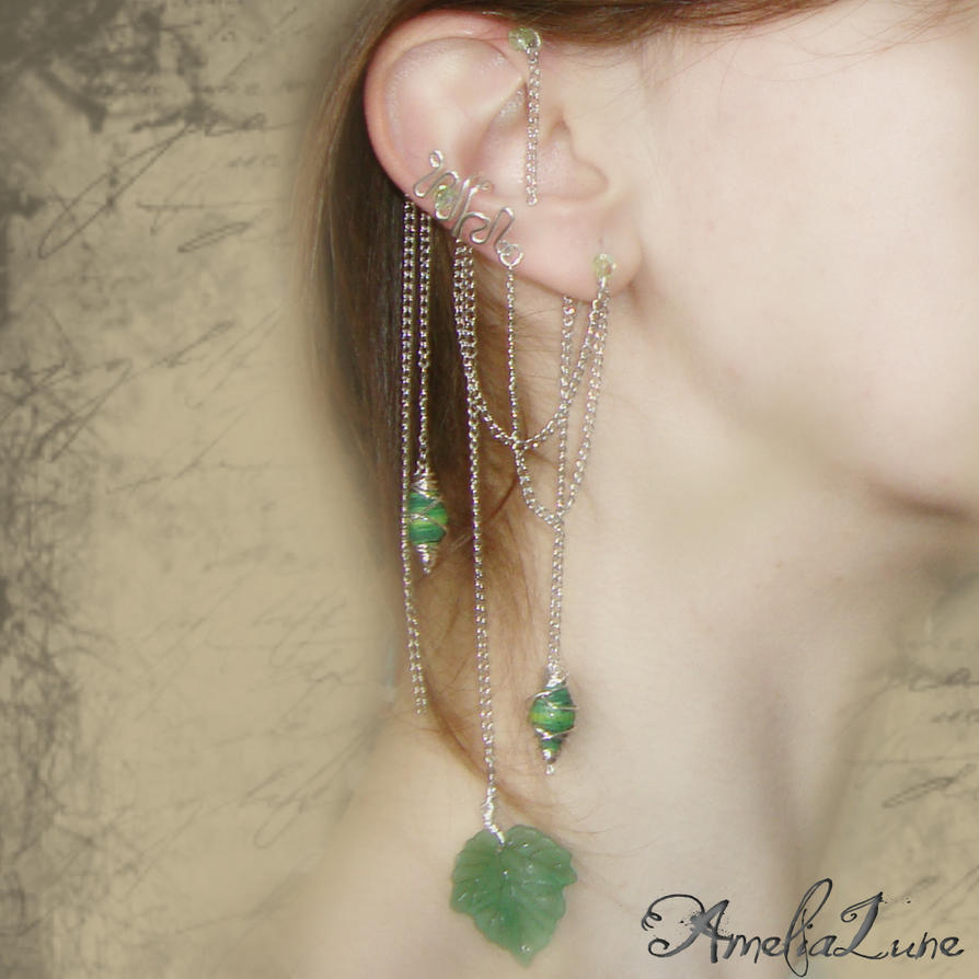 Threader earrings, earspirals, ear spirals, ear cuffs, earcuffs