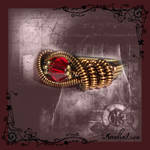 Fantasy coiled statement ring