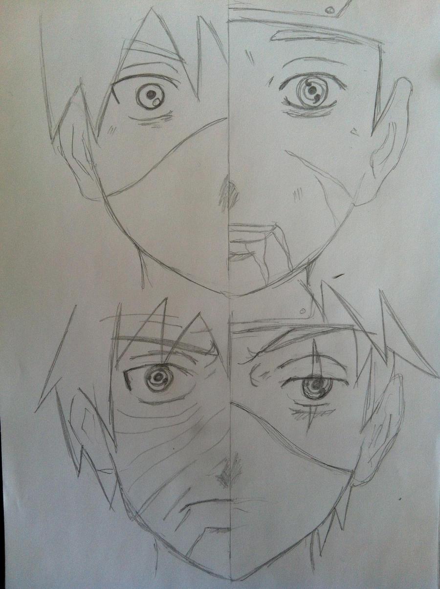 Obito and Kakashi WIP by Zukura7L on DeviantArt