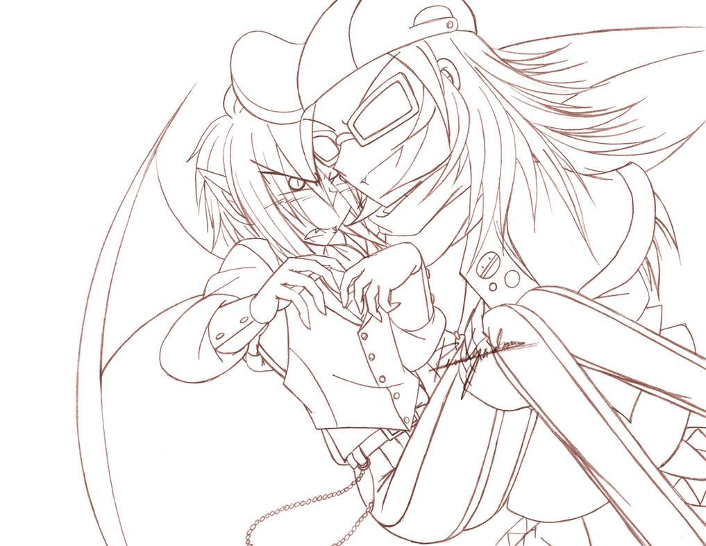 Sketch - The Bat and the DJ God 04 by yukito-chan