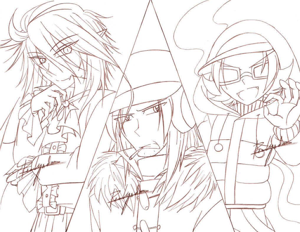 Sketch - The Bat, the Janitor and the DJ God by yukito-chan