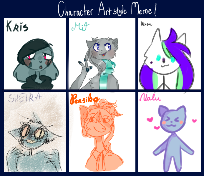 character artstyle meme by pff-f