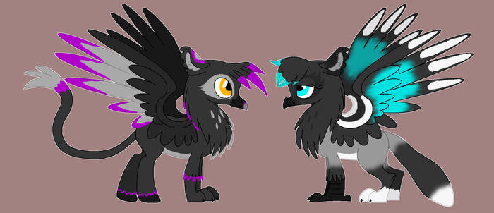Meer and Kashi as G4 Gryphs