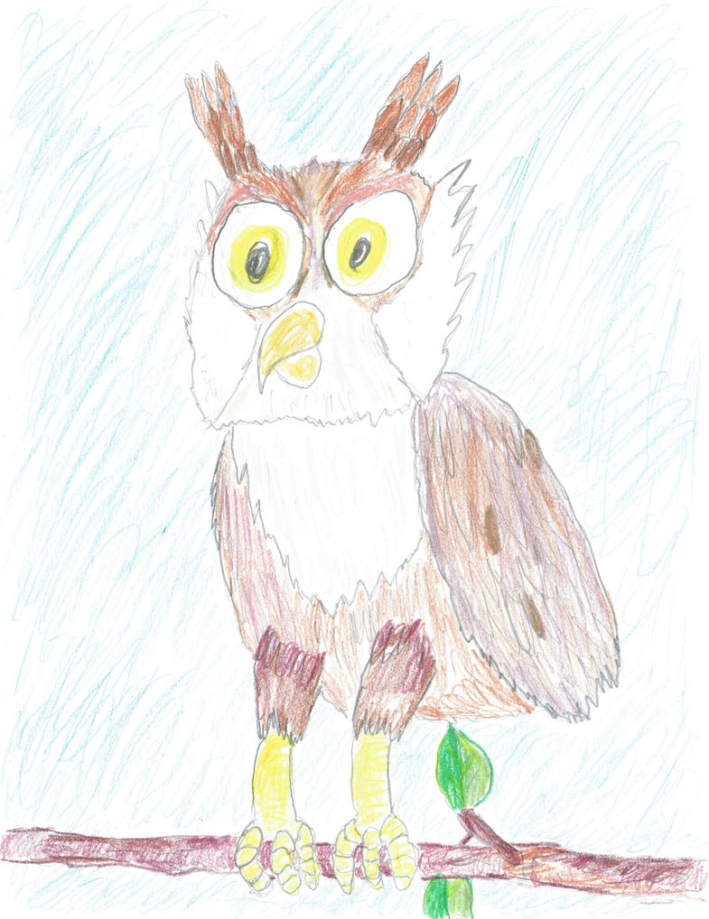 Horned Owl by Raakone