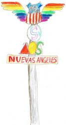 Station Sign, Nuevas Angeles, Nu'u-Sara, Ai'a'ivea by Raakone