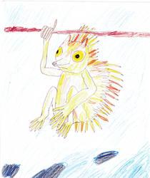 Hedgehog Tarsier Hybrid by Raakone
