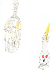 Rib Cage and Voodoo Candle by Raakone