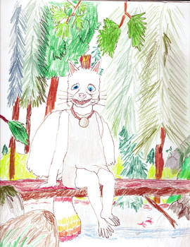 Ingrid sitting in a forest